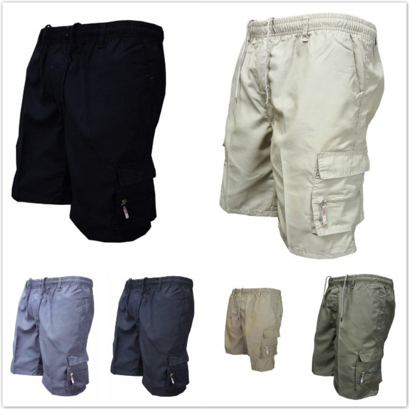 2018 Men Cargo Shorts Camouflage New Summer Mens Multi Pocket Shorts Cotton Loose Shorts