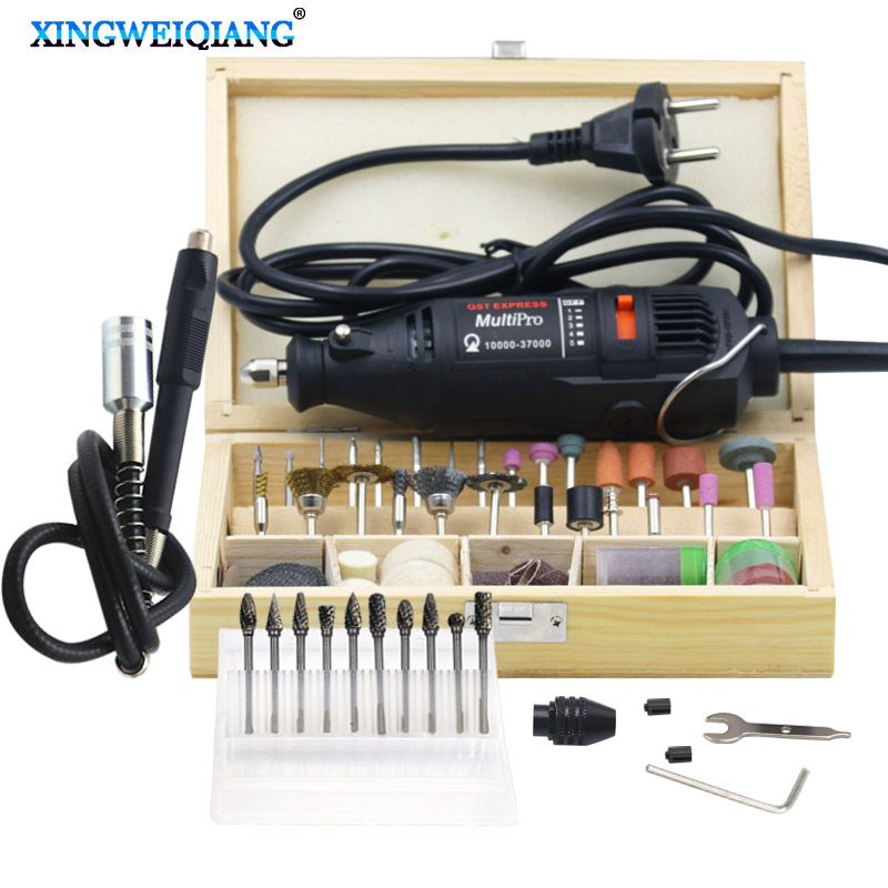 220V Power Tools Electric Mini Drill with Flex shaft 113pcs Rotary Tools Accessories For Dremel Drill