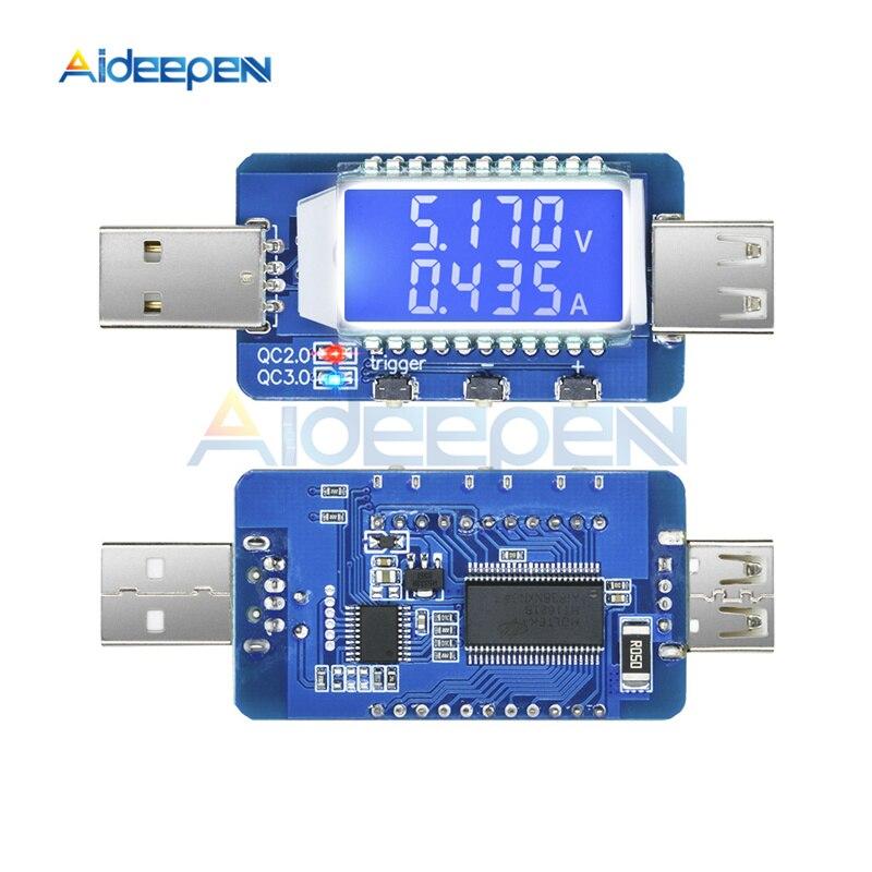Écran LCD USB Testeur Chargeur Courant Tension Capacité Testeur DC voltmètre