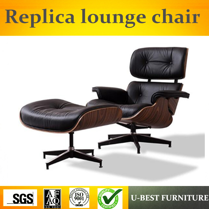 U-BEST haute qualité moderne chaise meubles réplique chaise longue pour salon, en cuir véritable Loisirs hôtel fauteuil salon