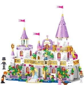 Image 2 - 731pcs Princes Windsor Castle Model Building Blocks Compatible Legoings Friends Carriage Figures Educational Toys For Girl Child