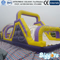 FREE SHIPPING BY SEA High Quality Inflatable Obstacle Course With Inflatable Slide For Adult