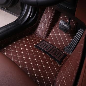 Car floor mats Case for Hyundai ix25 Elantra SantaFe Sonata Solaris Tucson car-styling leather Anti-slip carpet liners