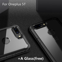 For Oneplus 5T Case One Plus 5 T Cover Bumper Back Transparent Armor Air Cushion Corner