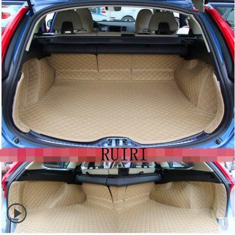 Meilleure qualité! spécial tapis voiture du tronc pour Volvo V60 2017-2011 étanche cargo liner tapis boot tapis pour V60 2016, livraison gratuite