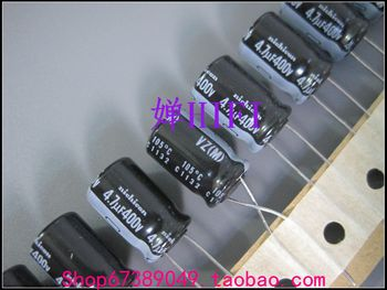 цена на 2019 hot sale 20PCS/50PCS Japanese original VZ electrolytic capacitor 400v4.7uf 10x16mm free shipping