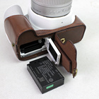 Black/Coffee/Brown/White High Quality PU Leather Half Camera Bottom Case Bag Cover For Canon 200D With Battery Open Case