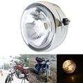 6.5'' Chrome Motorcycle Headlight Capless Headlamp For Honda Yamaha Harley Suzuki Cafe Racer GN 125 Front Light Moto Accessories