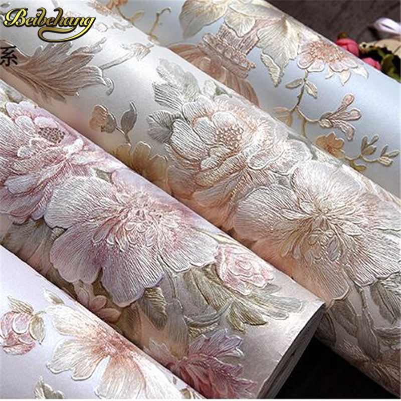 beibehang background wallpaper non-woven gliter damask wall paper for living room bedroom papel de parede tapete contact paper