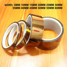 30M Polyimide High Temperature Tape Gold Finger High Temperature Brown Industrial Insulation Tape Suitable for 3D Printers 0 06mm thick 110mm 20m high temperature resist esd one side adhension tape polyimide film for motor insulation