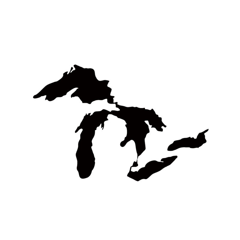 Hot Sale Car Stying Michigan Great Lakes State Decal Car Window Sticker Car Stying Creative Stickers Jdm