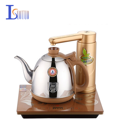 304 Stainless Steel Automatic Intelligent Electric kettle,0.9L  golden Electric Tea Kettle,Electric Tea Stove 1200W304 Stainless Steel Automatic Intelligent Electric kettle,0.9L  golden Electric Tea Kettle,Electric Tea Stove 1200W