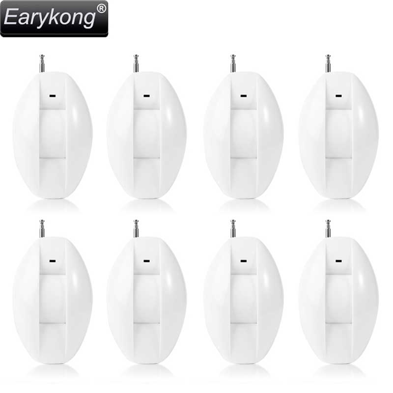 NEW Earykong 433MHz Wireless Curtain Infrared Detector, Window intrusion alarm, 8 pieces include, For Wifi / GSM alarm system