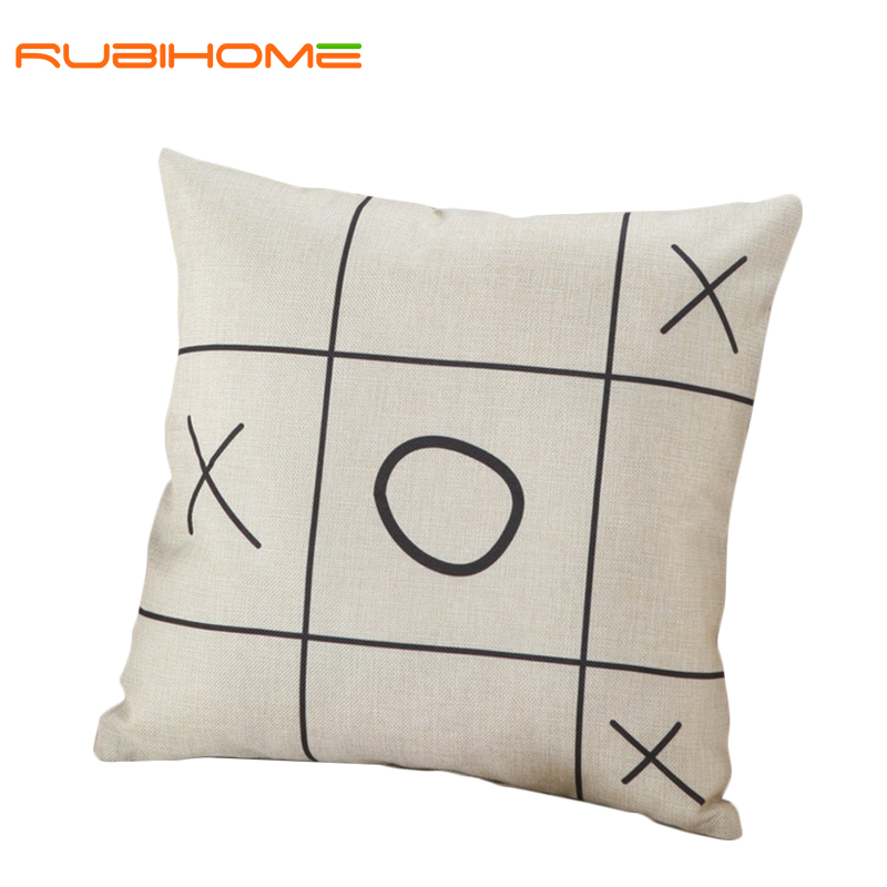 Creative geometric XO cushions without inner black and white decorative throw pillows chair seat ...