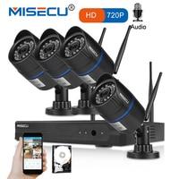 MISECU 4CH 720P 1MP IP Camera Audio Record Wireless Security CCTV System Home NVR wifi Video Surveillance Kits Set plug play
