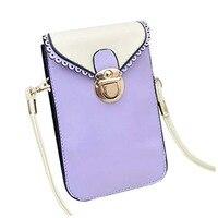 FGGS-Fashion Ladies Girls Casual Mini PU Cross-Body Shoulder Bag Cell phone Pouch Bag Small Purse (Light Purple)
