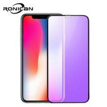 Ronican Che Phủ Toàn Bộ Kính Cường Lực Cho iPhone XS Tấm Bảo Vệ Màn Hình 3D Có Kính Cường Lực Cho iPhone X 10 Trên iPhone X 5.8 Inch
