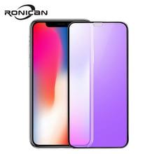 Ronican capa completa de vidro temperado, para iphone xs, protetor de tela 3d, película de vidro protetora para iphone x 10 no iphone x 5.8 polegadas