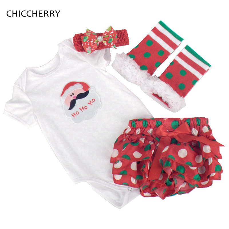 Santa Claus Infant Christmas Costume Gift Set Newborn Baby Bodysuit Bloomer Headband Robe Noel Toddler Outfit Christmas Clothes crochet santa claus baby photography prop costume set
