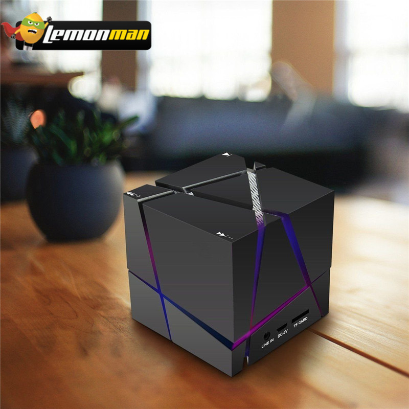 Portable Bluetooth Speaker LED 3W Stereo Sound Box Mp3 Player Subwoofer Speaker