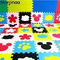 DIY детская мягкой складывающейся ползет ковры, детские игры головоломки номер мультфильм DIY eva пены, коврик пола для детских игр 30*30*1 см