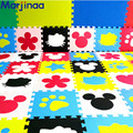 Desenvolvimento suave infantil rastejando tapete DIY, série dos desenhos animados DIY eva enigma do jogo do bebê tapete de espuma, almofada de chão para jogos do bebê 30*30*1 cm