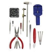 2017 New Universal Watch Repair 16 Split Strap Device Opener Tool Kit Hammer Forceps Screwdriver 11