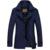Envío gratis 2017 nuevo estilo de los hombres trinchera abrigo Breated Individuales sólido hombres delgados ropa de abrigo capa ocasional de los hombres Tamaño de la chaqueta M-XXXL 79