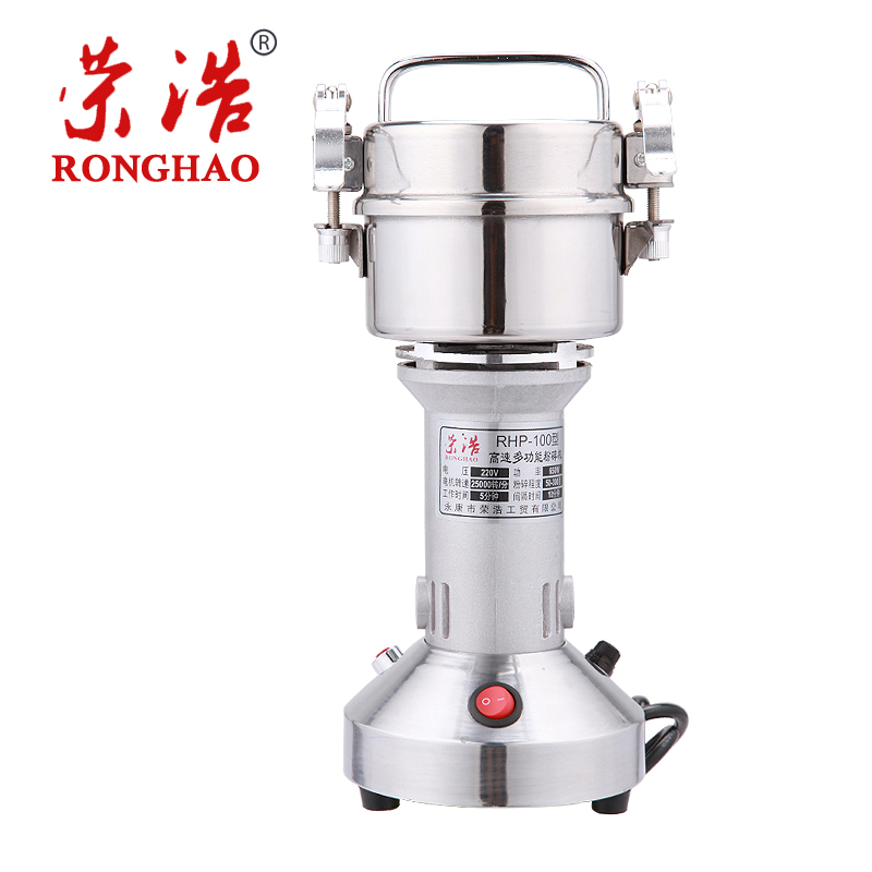 100G Traditional Chinese Medicine Electric Grinder Stainless Steel Grinding Machine Small Ultra-fine Powder high quality 300g swing type stainless steel electric medicine grinder powder machine ultrafine grinding mill machine