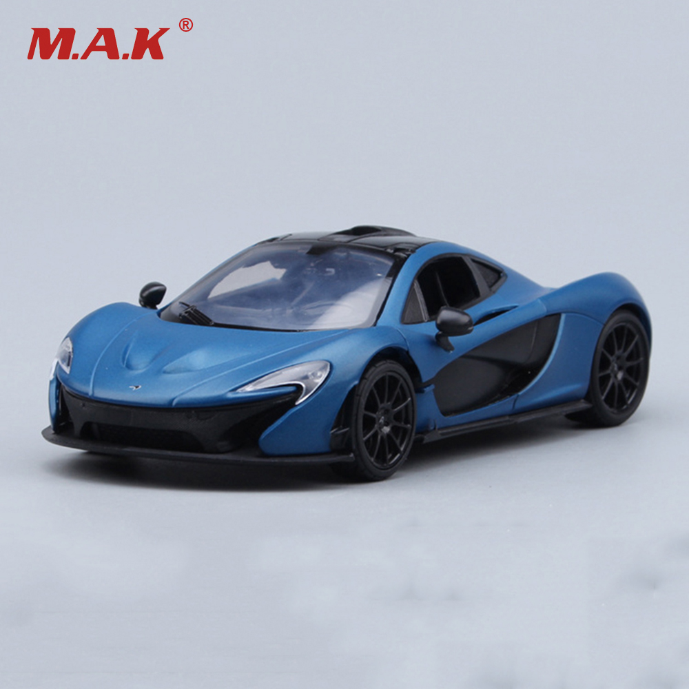 1/24 Scale McLaren P1 Racing Sports Diecast Car Models Boys Toys Kids Gifts Collections Displays Blue with Box