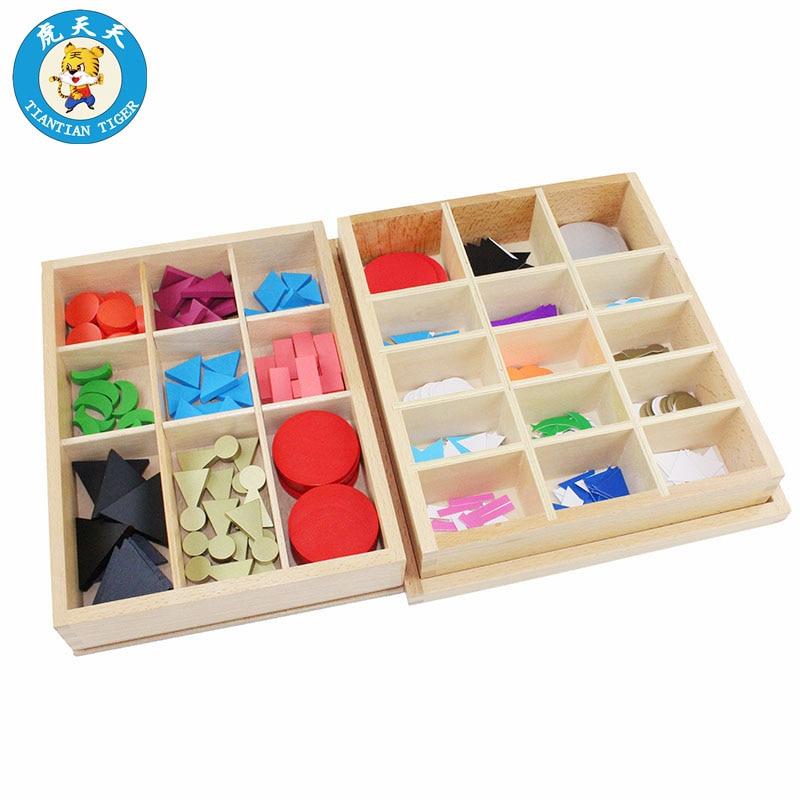 Montessori langue jouets bébé enfants éducation précoce jouets de base bois et cartes symboles de grammaire avec boîte