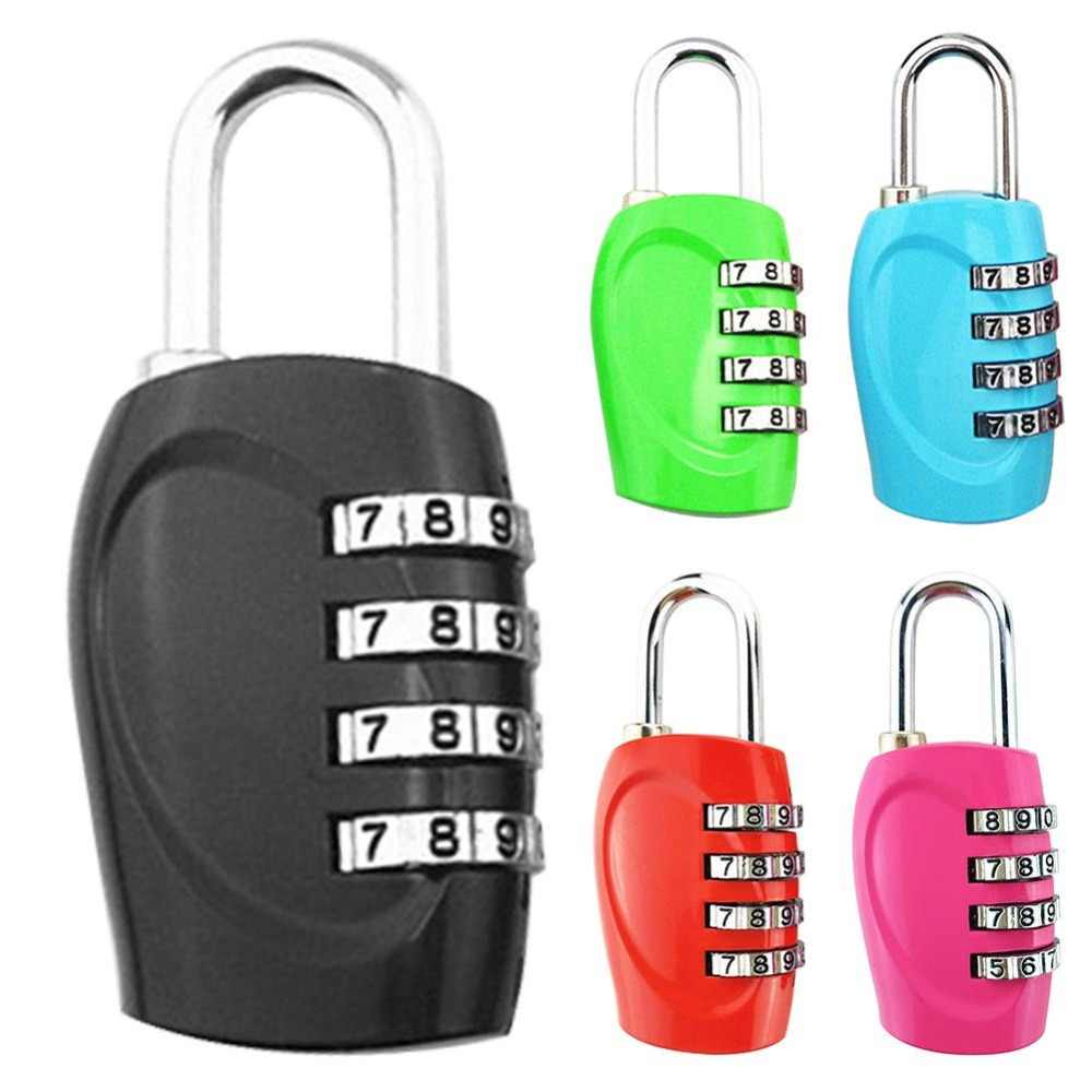 4 Dial Digit Password Lock Combination Suitcase Luggage Metal Code Password Lock Padlock Multi Colors