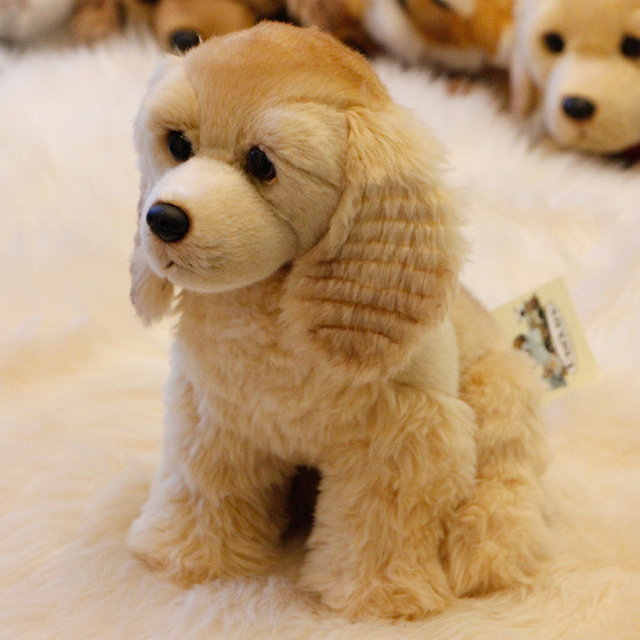 Dorimytrader Quality Soft Realistic Animal Cocker Spaniel Plush Toy