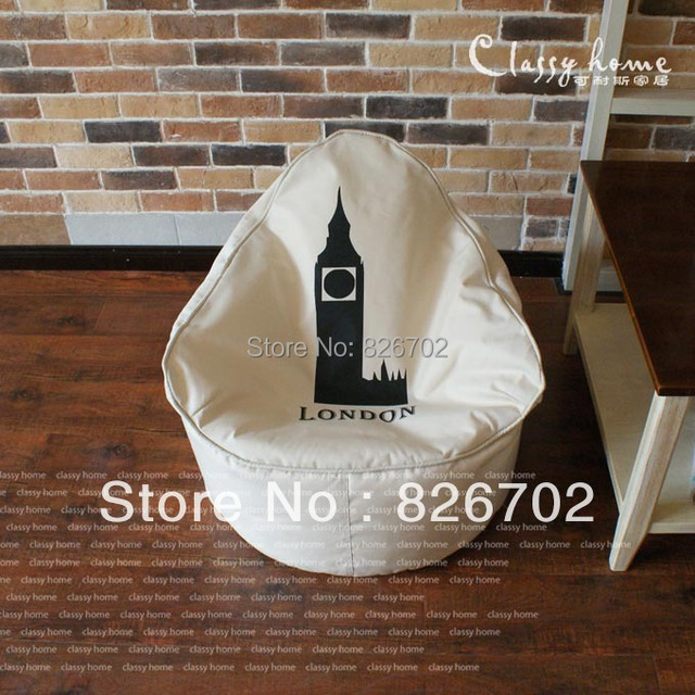 Free Shoping Retro Eiffel Tower Removable And Bean Bag Chair Cover Computer