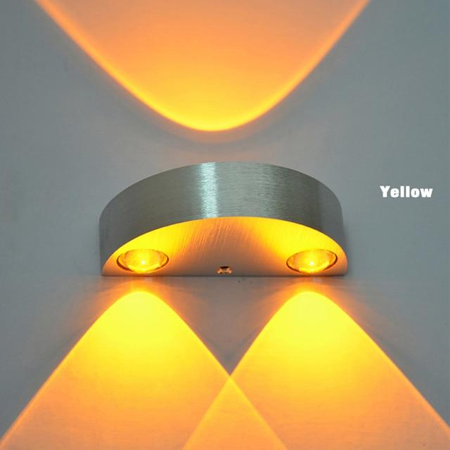 Modern 3 LED Up Down Wall L& Spot Light Sconce Lighting Semicircle LED Wall Sconce Decor & Modern 3 LED Up Down Wall Lamp Spot Light Sconce Lighting ... azcodes.com