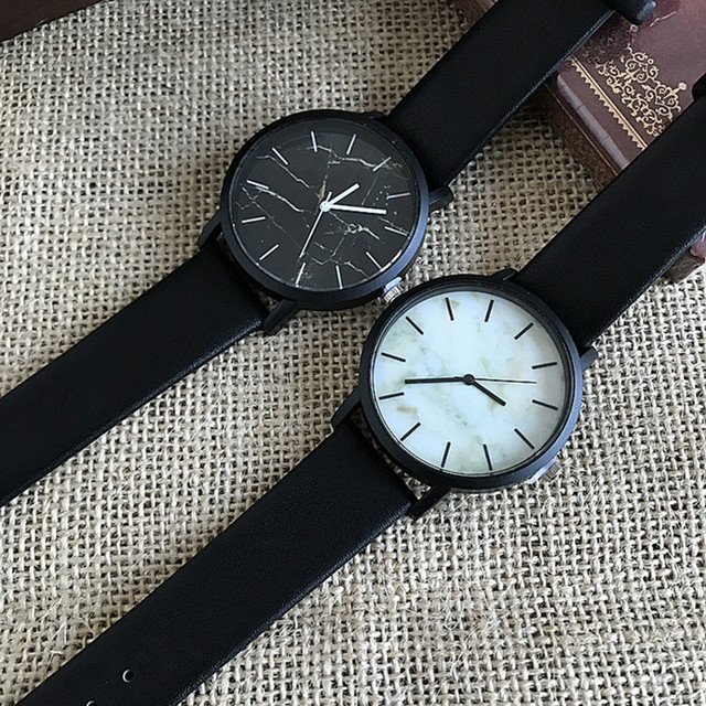 2016 Hot Sale Fashion Marbling Stripe Creative Quartz Watch Men Women Wristwatch