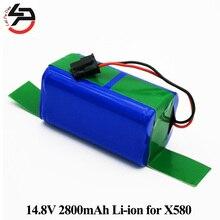 14.8 V 2800 mAh Aspirateur Batterie Li-ion X580 pour Ecovacs S CEN540 CEN546 Miroir CR120 Dibea Deuxième Génération X500 X580 KK8