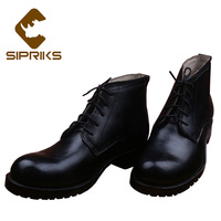 Sipriks Mens Goodyear Welted Dress Boots Genuine Leather Black American Work Boots Classic Lace Up Ankle Boots Big Size European