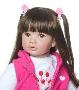Image 3 - shipping from Russia 60CM high quality reborn toddler princess girl doll adorable Lifelike Baby Bonecas bebe doll reborn menina