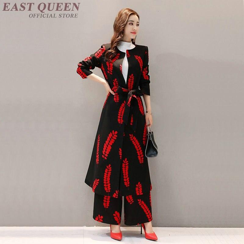 Womens two piece sets 2018 ladies elegant women pant suit female fashion 2018 spring pantsuit AA3260
