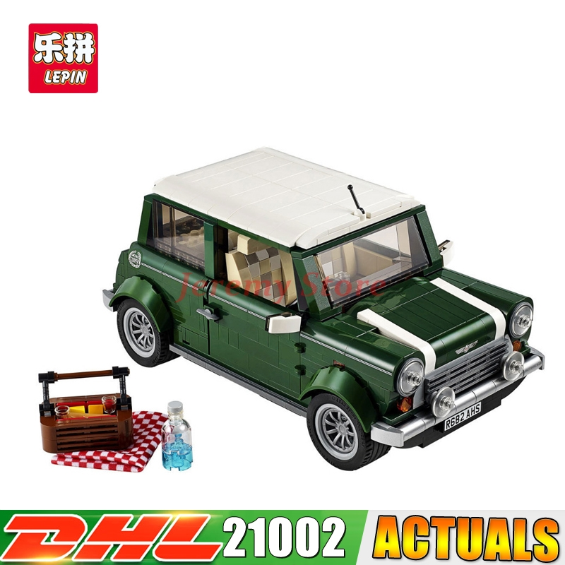 2017 LEPIN 21002 1108pcs compatible Technic series Cooper MK VII Model Kits Building Blocks Bricks Toys With 10242 Children Gift free shipping lepin 21002 technic series mini cooper model building kits blocks bricks toys compatible with10242