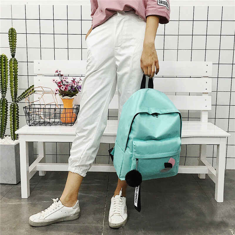האופנה תלמיד תיק ילדה 2019 חדש ניילון נשים תרמיל פנאי נסיעות כתף תיק