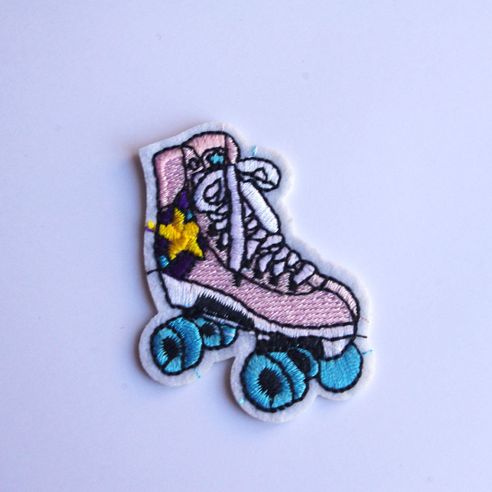 Inline Roller Blading Skates embroidery patch applique