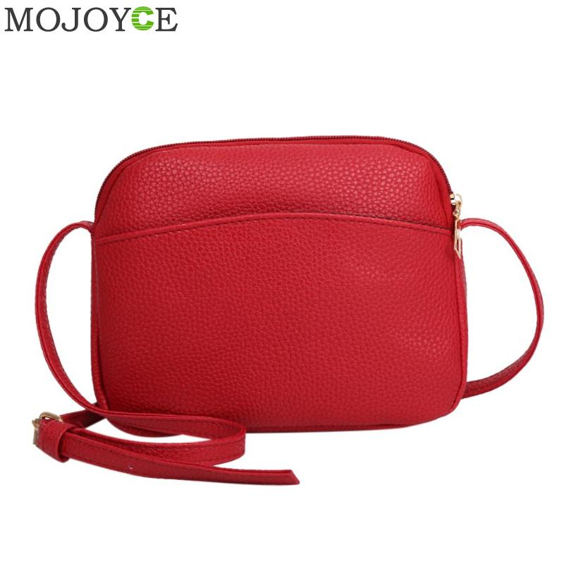 2018 Hot Crossbody Bags For Women Simple Casual Mini Candy Color Shell Messenger Bag For Girls Flap PU Leather Shoulder Bags rdywbu candy color rivet chain shoulder bag women new pearl pu leather flap handbag girls fashion crossbody messenger bag b430