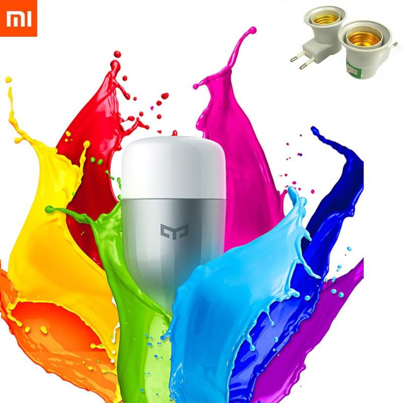 XiaoMi Yeelight Colorful Bulb E27 Smart APP WIFI Remote Control Smart LED Light RGB / Colorful Temperature Romantic Lamp Bulb