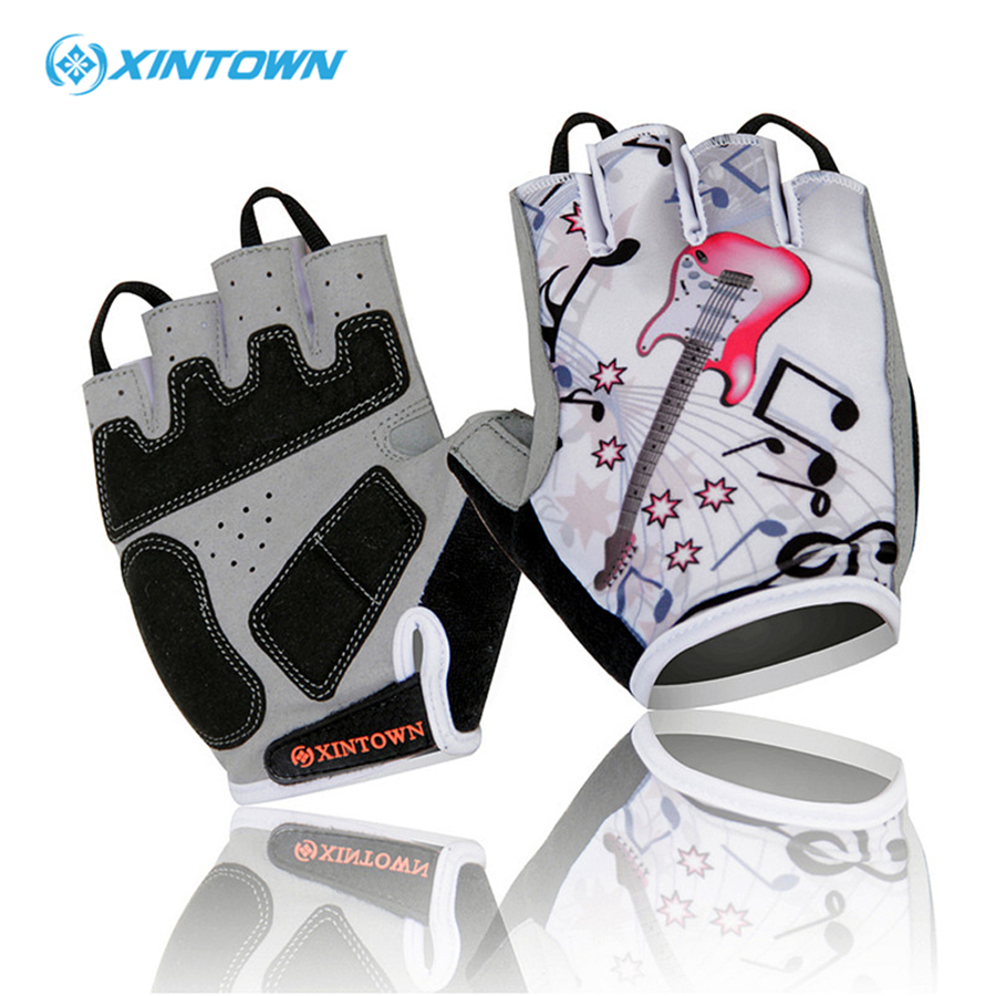 Fingerless gloves for guitarists - Xintown 2017 Anti Shock Half Finger Bicycle Gloves Guitar Cycling Glove Fingerless Mtb Mountain Bike