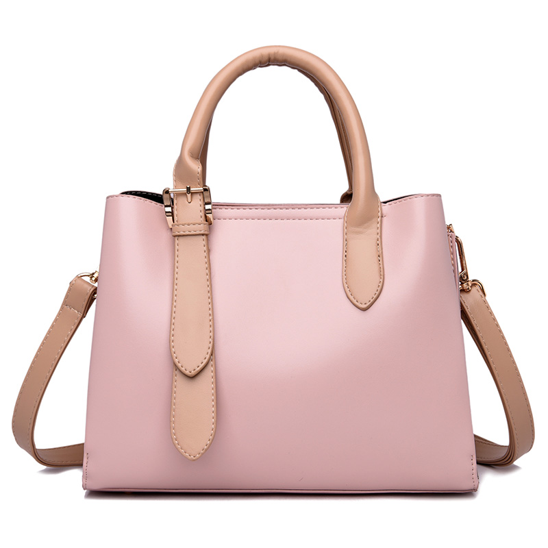 New Fashion Women Messenger Bag PU Leather Girls Top Handle Shoulder Tote Solid Cute Fashion Party Handbag Crossbody Bag Wallet in Top Handle Bags from Luggage Bags