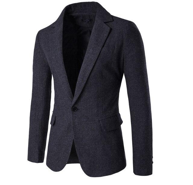 2016 Осень и зима мужская одежда повседневная Slim Fit шерстяные костюмы Новые мужская мода Деловой костюм куртка высокого качество