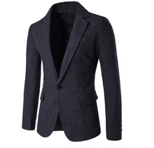 2016 Autumn and winter men's clothing casual Slim Fit wool suits New Men's fashion Business suit jacket high quality