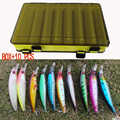 10 PCS Angeln Locken und Doppel-Schicht Köder Box Set Simulation Köder Multi-zweck Angeln Getriebe Lagerung Box angeln tackle box